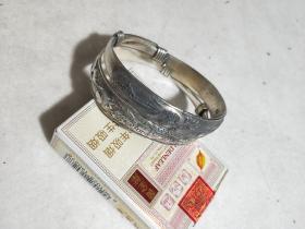 汶银  手镯  一对  五六十年代。