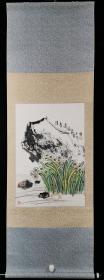 著名书画家、上海香山书画院院长 陈志明 乙亥年(2019)水墨画作品《清香远溢》一幅(纸本横轴,约2.8平尺,钤印:陈志明)HXTX318990
