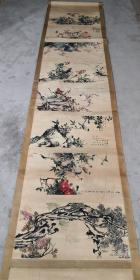 长卷手卷画, 装裱尺寸:334×68.5cm 画心尺寸:272×58.5cm。