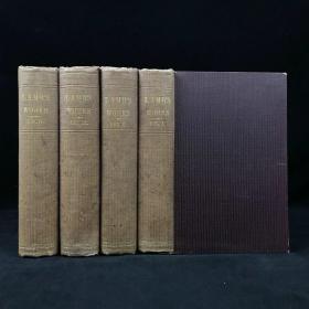 1863年 兰姆作品集(全4卷) 卷首配版画肖像插图 漆布精装36开