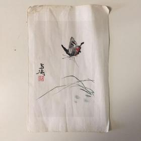 七十年代 王雪涛 木板水印画 一张