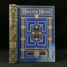 1874年 荷兰庄园史(卷2) 43幅版画插图 漆布精装18开