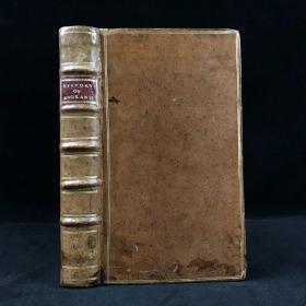 1785年 文豪戈德史密斯《英国史》 5幅原品铜版画插图 原始小牛皮精装36开