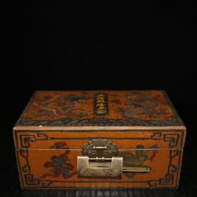 宫藏老漆器盒古玉一套老古玉手把件三件