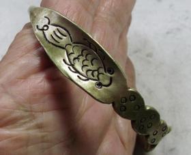 大清黄铜手镯