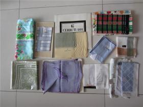 未使用库存丝巾手绢一些