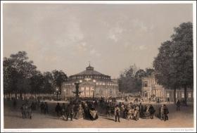 1861年半色调石版画《皇后马戏团》,48.5×33cm