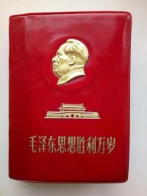 毛泽东思想胜利万岁/林彪同志讲话摘录(林像少见、6林题中2倒装少见、不足有水渍、慎拍)