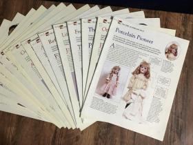 【英文超大开全彩老娃书】16册合售,美轮美奂,极其罕见