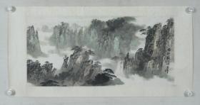 郑午昌弟子、海派名家 施一岫 水墨画作品《五山》一幅(纸本镜心,画心约2.7平尺,钤印:一岫作等)HXTX319045