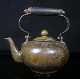 珍藏纯铜提梁铜壶