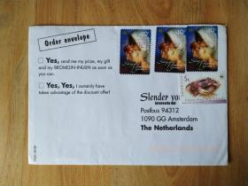 外国早期珍稀邮品终身保真【澳大利亚2001年圣母天使螃蟹邮票实寄封】珍品2010-16