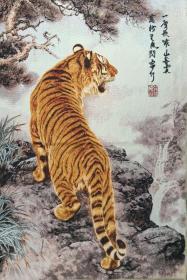 织锦绣布画 尺寸:60×90cm
