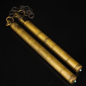 纯铜实心黄铜双节棍