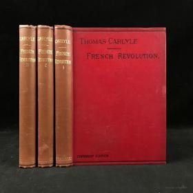 约19世纪末 卡莱尔历史巨著《法国大革命史》(全3卷) 漆布精装36开