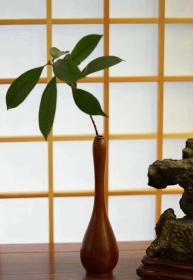 瓢形古铜花瓶