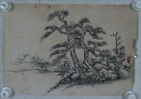 民国时期 佚名画稿 一幅(纸本软片,约1.1平尺)HXTX319940
