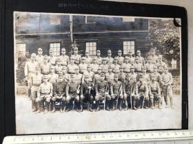 民国抗战时期侵华日军河本队老照片19张,大合影、各班合影、开封、京山