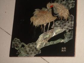 保真实物非印刷品一件----扬州著名工艺品:扬州漆器松鹤等等
