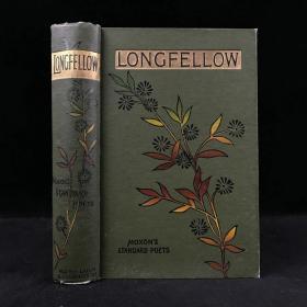 约1900年 朗费罗诗集 漆布精装32开 封面书脊彩色印花