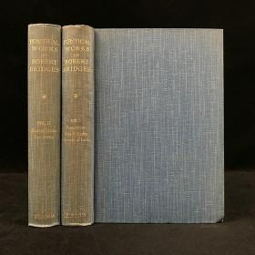 1898年 罗伯特·布里季诗集(全2卷) 布面精装32开