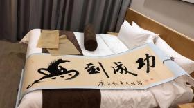 贾天佑书法大师的作品《马到成功》,收藏佳品。
