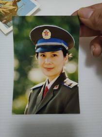 49】著名女演员—肖雄 军装照片一张 尺寸12.5×8厘米