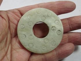 古代谷粒纹玉平安扣