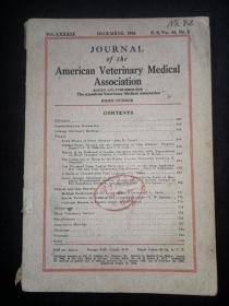 1936年外文书:美国兽医协会杂志AMERICAN  VETERINARY MEDICAL ASSOCIATION  第42卷6期