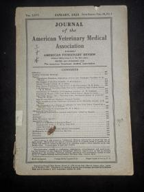 1925年外文书:美国兽医协会杂志AMERICAN  VETERINARY MEDICAL ASSOCIATION  第19卷4期