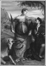 1892年大幅蚀刻、雕刻版画《圣女贾斯汀娜》,85*69.5cm