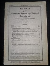 1924年外文书:美国兽医协会杂志AMERICAN  VETERINARY MEDICAL ASSOCIATION  第18卷5期