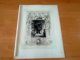 1886年铜版蚀刻版画《汉斯·马卡特与他的画室(维也纳一座废弃铸造厂内)》(Makart und sein Atelier)-- 19世纪德国雕刻家,威廉·昂格尔(Wilhelm Unger)的原创蚀刻作品-- 汉斯·马卡特(Hans Makart,1840-1884),奥地利学院派历史画家、设计师,影响维也纳高雅文化圈的名流 -- 奥地利维也纳艺术画廊出版发行 -- 版画纸张38.5*29厘米
