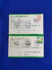 1984年最佳邮票评选票。带改退批条  —   2张。