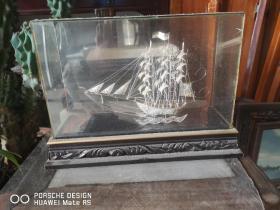 纯银制作 一帆风顺  掐丝 工艺小船 一个