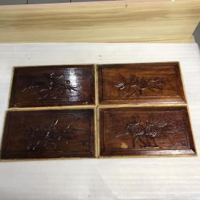木雕花 四片 21020143