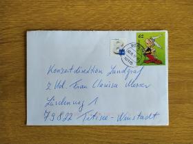 《外国集邮品收藏:德国2017年卡通动画邮票实寄封》澜2101-24