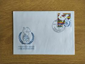《外国集邮品收藏:德国1986年和平鸽邮票首日封》澜2101-24