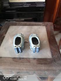 瓷质青花 三寸金莲绣鞋样子  一对