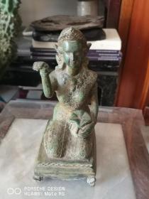 民国或清代  东南亚 佛像一个 铜质刻工细致