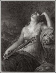 1812年铜版画《抹大拉的玛丽亚》之二,49.5*33cm
