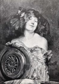 1891年 德国木口木刻版画 《莎乐美》41*28厘米