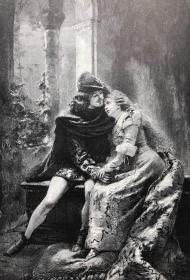 1891年 德国木口木刻版画《罗密欧与朱丽叶》 41*28厘米