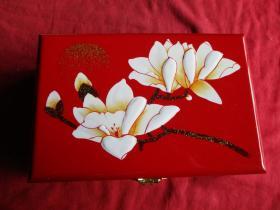 福建,脱胎漆器首饰盒一件,长21cm13.5cm,高7.5cm,品好如图。