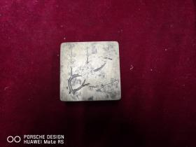 民国期间   梅花   雕刻 墨盒一个     尺寸7*7*3.厘米