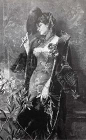 1891年 德国木口木刻版画 《埋伏》41*28厘米