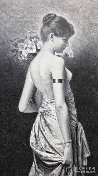 1891年 德国木口木刻版画《费罗拉》41*28厘米