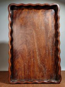 花梨木茶盘 长35厘米 宽23厘米,重670克