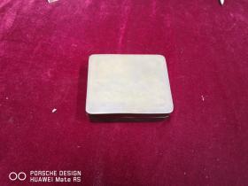 民国期间  千江月款  鸬鹚荷花  手工雕刻墨盒一个    尺寸12.5*10*4.厘米