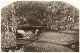 """1893年照相凹版《奥菲利亚》(莎士比亚""""哈姆雷特""""的恋人),31.9*23.2cm"""